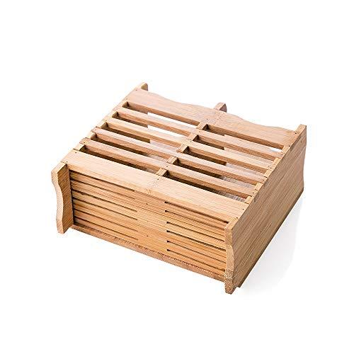 LRHD Cubiertos de Secado Titular Cesta Colgante Sostenedor de Madera de bambú Palillos Colgantes Vajilla Escurridor hogar Utensilios de Cocina Cuchara Tipo Colgante de Drenaje Palillo Titular