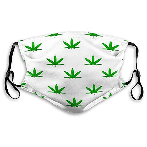 YYTT8 Gesichtsschutz Mund Scraf Green Weed Cannabis Leaf Drogen Medizinische Marihuana Pflanze I Mit Filter
