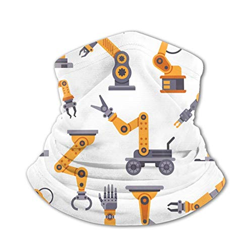 Conjunto de brazos robóticos para adolescentes, bufanda de seda de hielo, bufanda para el cuello, bufanda cálida, multifuncional, pasamontañas
