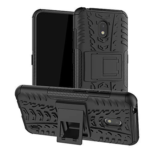 LFDZ Nokia 2.2 2019 Hülle,Abdeckung Cover schutzhülle Tough Strong Rugged Shock Proof Heavy Duty Hülle Für Nokia 2.2 2019 (Not fit Other Models),Schwarz