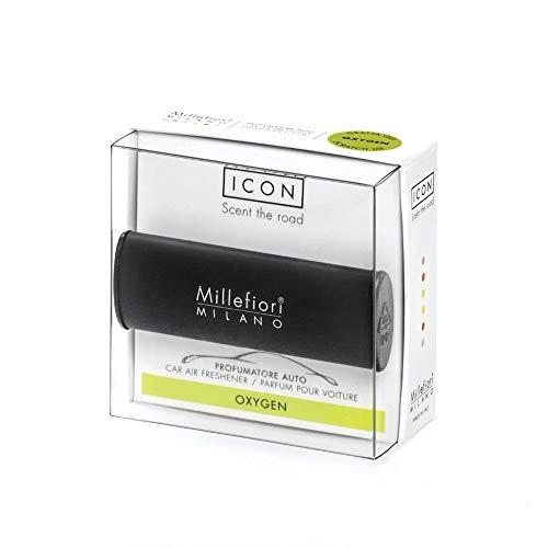 Millefiori Profumatore per Auto collezione ICON colore nero, Fragranza Oxygen
