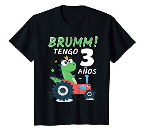 Niños 3 Años Cumpleaños Niño Niña Regalo Dinosaurio 3 años Camiseta