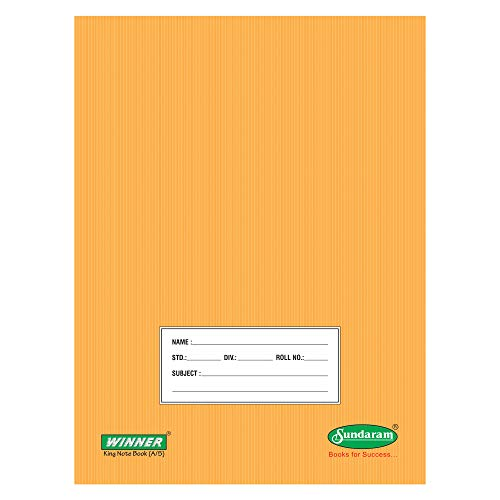 Sundaram E-15 Winner King Note Book- 172 Pages - Pack of 12 Pcs