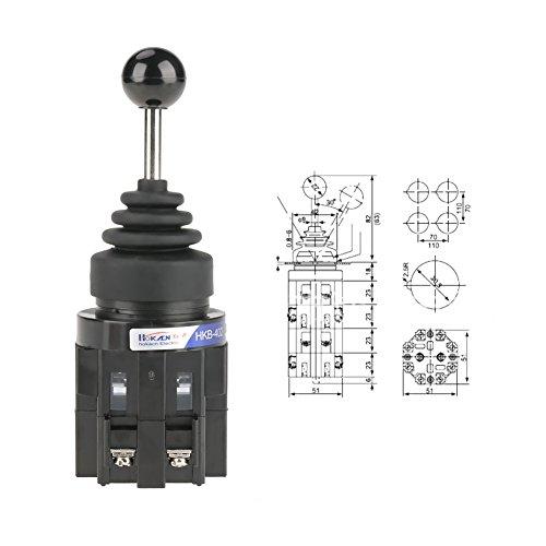 CS402 4NO Rücklauf Joy Stick Schalter 30 mm 4 Positionen Kreuz Monolever Joy Stick Schalter