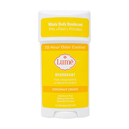 Lume Natural Deodorant - Underarms and Private Parts - Aluminum-Free, Baking Soda-Free, Hypoallergenic, and Safe For Sensitive Skin - 2.2 Ounce Stick (Coconut Crush)