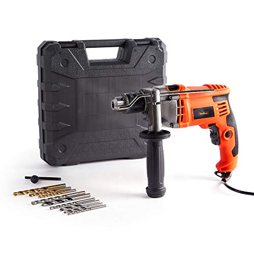 VonHaus 850W Impact Hammer Drill – for Stone Masonry Brick Metal & Wood - Electric - Variable...