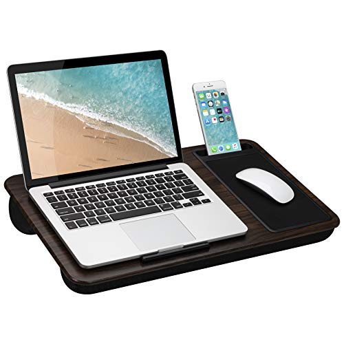 Cheapest Price! LapGear Home Office Lap Desk with Device Ledge, Mouse Pad, and Phone Holder - Espres...