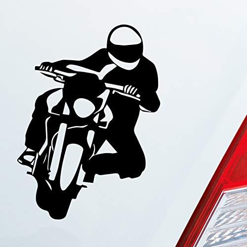 Auto Aufkleber in deiner Wunschfarbe Motorrad Biker Mopped Fun Dub OEM JDM 12x9cm Autoaufkleber Sticker Folie