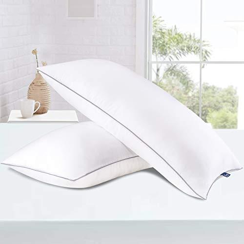 BedStory Kopfkissen 40x80 2er Set, Kissen aus Mirkofarsen 1700g Füllung, Effektive Unterstützung für Alle Schlafpositionen,Bequmer Weicher und Atmungsaktiver Kissen