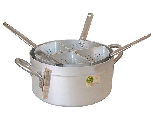 PARDINI Casseruola Alluminio Media Quattro Spicchi 3 Pentole Cucina, Grigio, 40 cm
