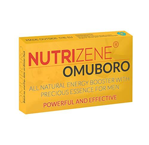 NUTRIZENE OMUBORO - Nueva fórmula extrafuerte mejorada y eficaz Con ingredientes de extractos naturales - Complemento alimenticio para hombres - 10 Cápsulas