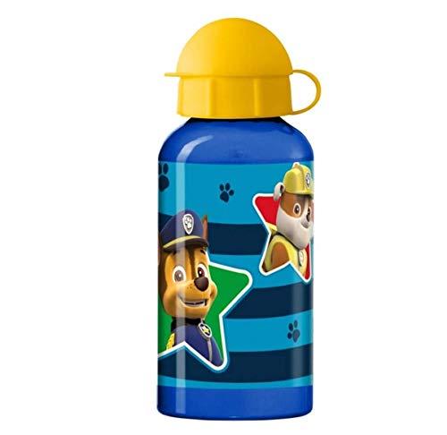 Theonoi Kinder Trinkflasche Sportflasche Wasserflasche Flasche Aluminium Aluminiumflasche - wählbar Spiderman Superman Batman Paw Patrol Cars Blaze Mickey 400 ml Geschenk Jungen (PawPatrol)