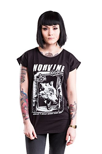 NORVINE Damen T-Shirt She-Wolf, Größe:S, Farbe:Black