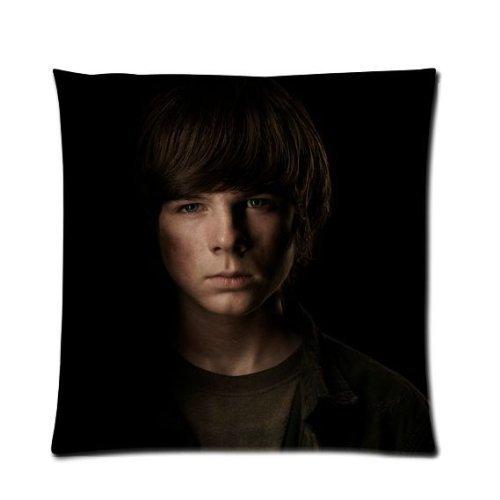were Pandora Star The Walking Dead Carl Grimes Chandler Riggs Custom Zippered Pillow Case Cover Fundas para Almohada 20x20Inch(50cmx50cm)
