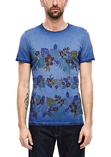s.Oliver 130.14.003.12.130.2052383 Camiseta, Azul, XXL para Hombre
