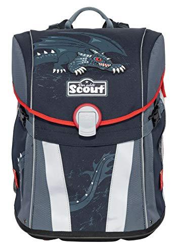 Scout Sunny Schulrucksack Set 4 tlg. Black Dragon