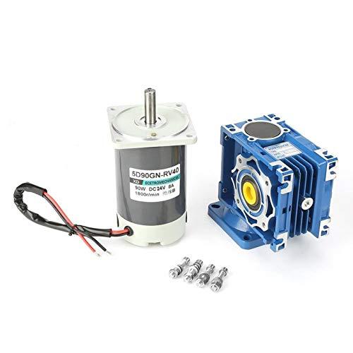 Motor de engranaje helicoidal CC de 24 V 1800 rpm, motor CC de CW/CCW CC 24 V 90 W 5D90GN-RV40 Velocidad ajustable con autobloqueo, para mini cabrestantes de Windows(50k)