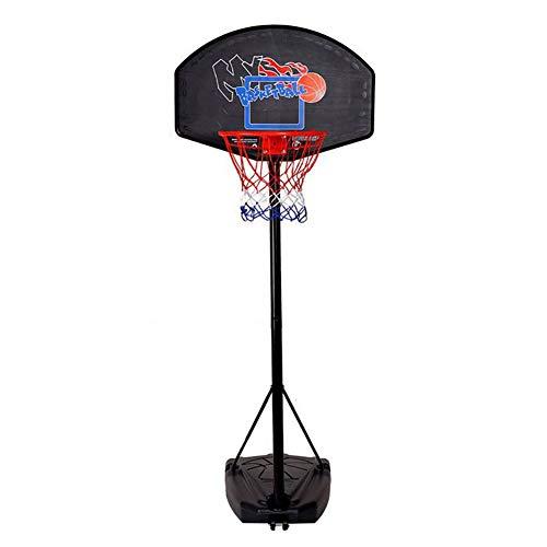 ERRU Basketballkorb Tragbares Basketballkorbsystem Auf Rädern, Eingebauter Basketballständer Junior Hoop Goal für Kinder/Erwachsene, Höhenverstellbarer Sport (Size : Total Height 3m)