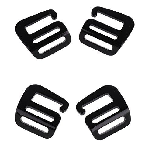 P Prettyia 2 Paar 25mm Rucksack G Haken Gurtband Schnalle für Gurtbänder, Kleidung, Gürtel - Schwarz