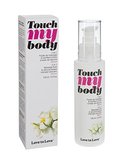 LOVE TO LOVE Touch My Body, Massageöl & Gleitgel, Monoi, 100 ml