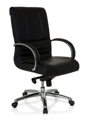 hjh OFFICE Bürostuhl/Chefsessel XXL F 200 Kunstleder, Bürostuhl bis 150 kg, schwarz