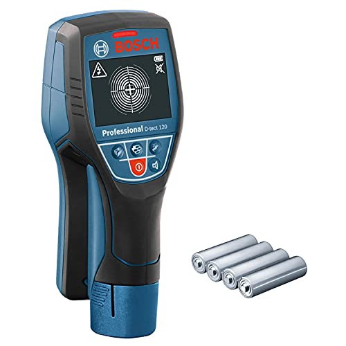 Bosch Professional Detector de pared D-tect 120 (4 baterías AA x 1,5 V, profundidad máx. 120 mm, en caja)