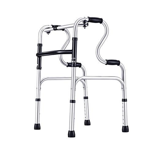 Walk Gqq @ Caminante Anciano Andador de diseño Antideslizante, muletas, Andador asistido para Ancianos, Andador Plegable, Apto para discapacitados, Personal de rehabilitación