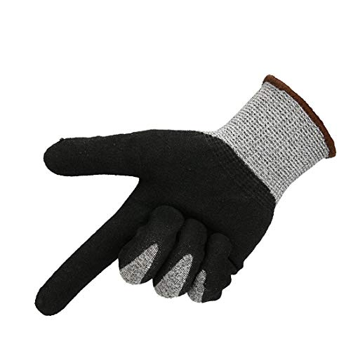 WLLL Schnittschutzhandschuhe, Arbeitssicherheit Schweißen Handschuhe Barbecue Handschuhe, Schweißer Handschuhe (Color : Black)