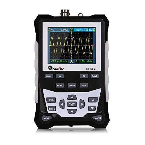 APROTII Multímetro osciloscopio digital LCD inteligente, ET120M 120MHz 500MS/s 2500 Waveform Storage Frecuencia Diodo Tester con gráfico de barra analógica