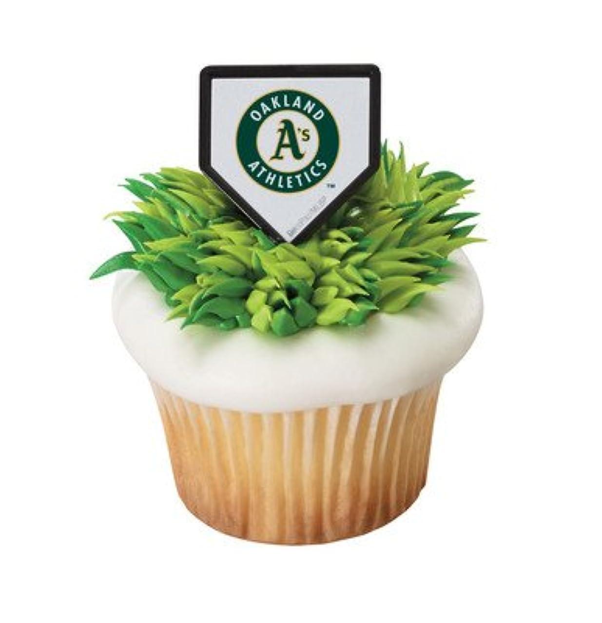 MLB Cupcake Topper Rings - Oakland Athletics