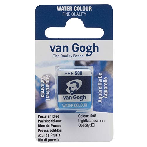 Van Gogh Watercolor Paint, Half Pan, Prussian Blue 508