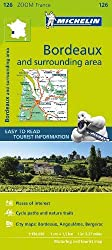 Road Map of Bordeaux and the surrounding area