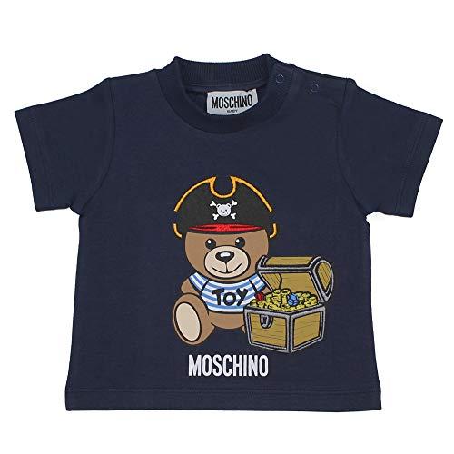 Moschino T-Shirt Baby Boy Marineblau aus Jersey Baumwolle MWM02ALBA0840016B, Blau 18-24 Monate