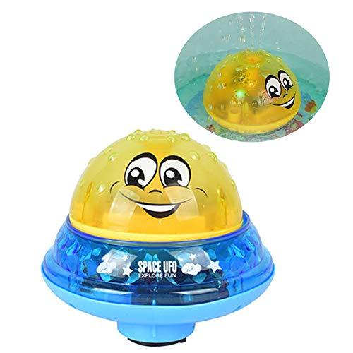 kuaetily Baby Badespielzeug Schwimmende Spielzeug Mit Licht Kann Musik Spielen, Wasser sprühen Geeignet für Kinder, Babys (Gelb)
