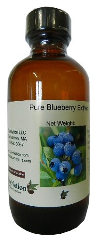 OliveNation Pure Blueberry Extract for Brewing and Baking, TTB-Approved Natural Flavoring for Baked Goods, Beverages, Non-GMO, Gluten Free, Kosher, Vegan - 8 ounces
