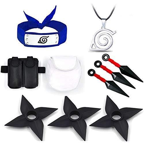 Mingzuo Naruto portátil plástico grande Kunai cuchillos lanzando dardo japonés Ninja Cosplay Accesorios