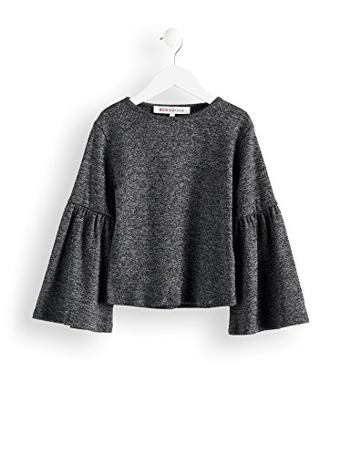 Amazon-Marke: RED WAGON Mädchen Sweatshirt mit Trompetenärmeln, Grau, 104, Label:4 Years