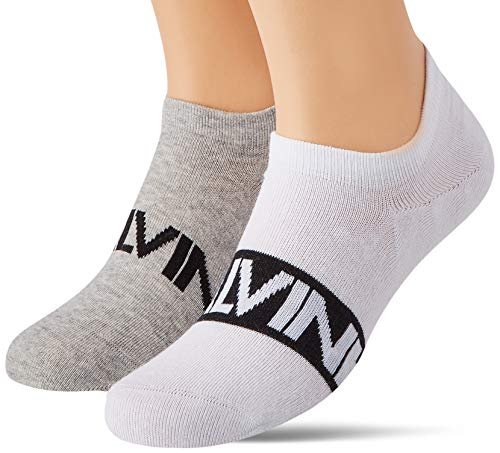 Calvin Klein Socks Mens Men's Liner (2 Pack) Socks, White, 39/42