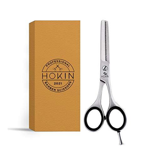 HOKIN Tijeras Peluquería Profesional Tijeras de acero inoxidable de 6.5 tijeras cortar pelo para adelgazar - Para hombres, mujeres y niños (Tijeras Entresacar)