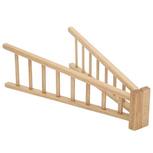 SALUTUYA Escalera de casa de muñecas Modelo Escalera Realista Hecha a Mano para Muebles de casa de muñecas de niña