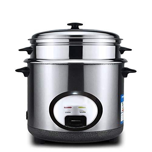 Bewinch Reiskocher, Warmhaltefunktion, von Premium-Qualität Innentopf, Wender und Messbecher Dampf Vent Deckel & Simple One-Touch-Bedienung Edelstahl,6L