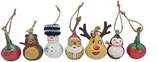 Santa Claus' Family 7 Pcs Box Set Christmas Tree Ornaments Handmade Gourd Art Crafts Gifts (7)