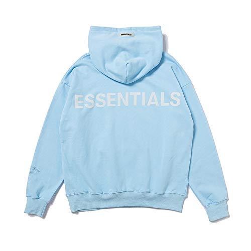 Kxin Fog Essentials 3M Reflektierender High Street Hoodie Pullover für Damen und Herren Gr. XL, blau
