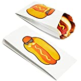 Confezione da 100 sacchetti per hot dog in lamina d'argento....