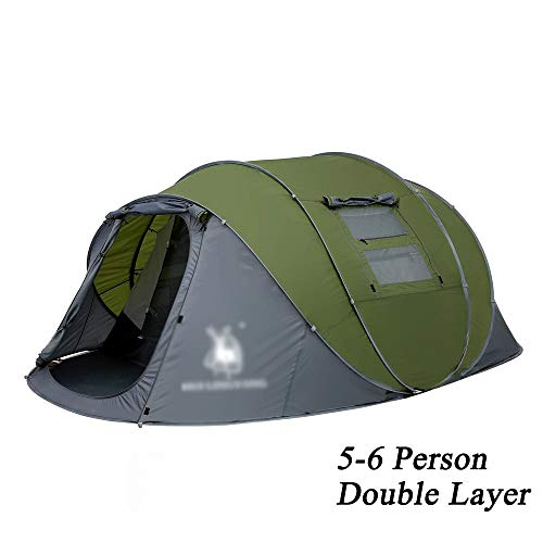 CAIAYUNB Tente d'extérieur Automatique Pop Up Étanche Camping Randonnée Tente étanche Grande Tente familiale, Double Green