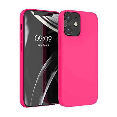 kwmobile Hülle kompatibel mit Apple iPhone 12/12 Pro - Hülle Handyhülle gummiert - Handy Hülle in Neon Pink