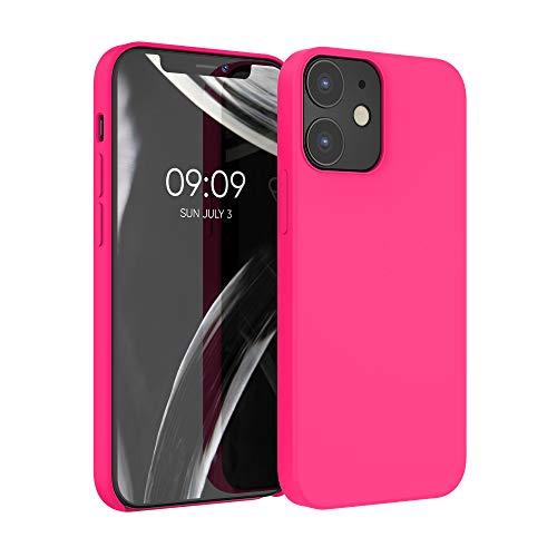 kwmobile Custodia Compatibile con Apple iPhone 12/12 PRO - Cover in Silicone TPU - Back Case per Smartphone - Protezione Gommata Rosa Shocking