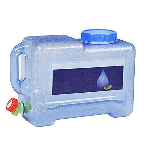 Groust Bidón de agua portátil, cubo de agua para el coche, con grifo, sin BPA, plástico grueso, para camping, picnic, exterior, barbacoa y viaje largo (8 L)