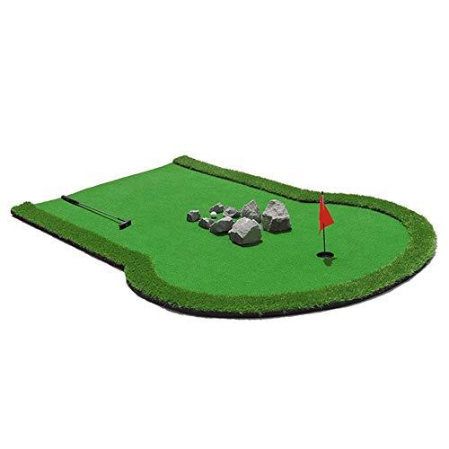 ChengBeautiful Estera de Golf Putter Pad de Golf Pad portátil de Golf Práctica de Mini Golf Capacitación asistida Juegos y Regalos Oficina en el hogar Uso en Exteriores Verde Interior