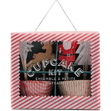Meri Meri Jingle All The Way Cupcake Baking Kit
